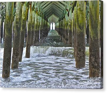 Canvas Print featuring the photograph Apache Pier by Eve Spring