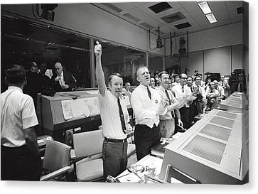 Apollo 13 Flight Directors Applaud Canvas Print by Everett