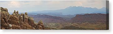 Canvas Print featuring the photograph Arches National Park Large Panorama by Mike Irwin