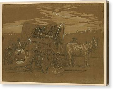 Arrival Of An African American Family Canvas Print by Everett