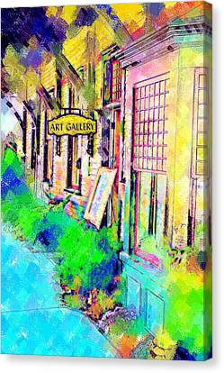 Art Gallery Canvas Print by Paul Bartoszek