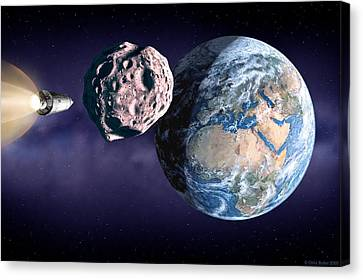 Asteroid Deflection Canvas Print by Chris Butler