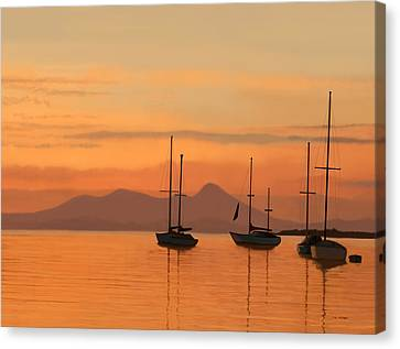 At Anchor Canvas Print by Tim Stringer