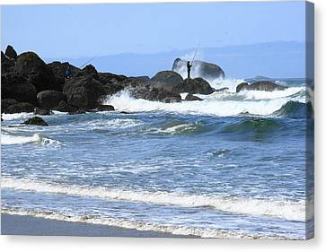 At Falcon Cove Canvas Print by Steven A Bash