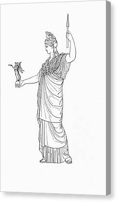 Athena, Greek Goddess Canvas Print by Photo Researchers