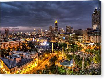 Atlanta Skyline Canvas Print by Anna Rumiantseva