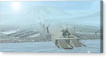 Atlantis Canvas Print by Christian Darkin