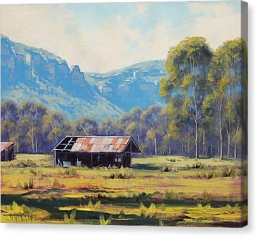 Shed Canvas Print - Australian Landscape Lithgow  by Graham Gercken