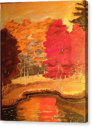 Canvas Print featuring the painting Autumn by Brindha Naveen