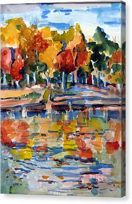 Autumn Color Canvas Print by Mindy Newman