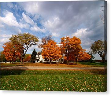 Autumn Is Colorful Canvas Print by Paul Ge