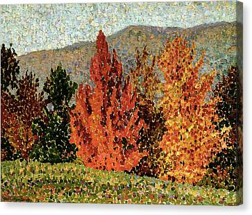 Autumn Landscape Canvas Print by Henri-Edmond Cross
