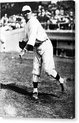Babe Ruth 1895-1948, American Baseball Canvas Print by Everett