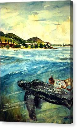 Back To Culebra Island Puerto Rico Canvas Print by Estela Robles