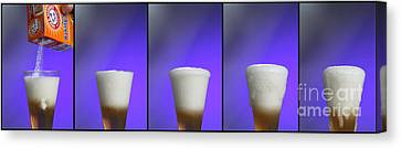 Baking Soda Reacting With Vinegar Canvas Print by Photo Researchers, Inc.