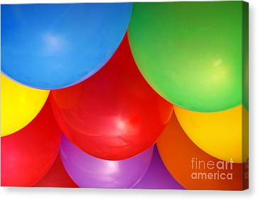 Balloons Background Canvas Print by Carlos Caetano