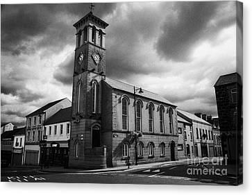 Ballymoney Town Clock Tower And Masonic Hall County Antrim Northern Ireland  Canvas Print by Joe Fox