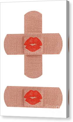 Bandages With Kiss Canvas Print by Blink Images