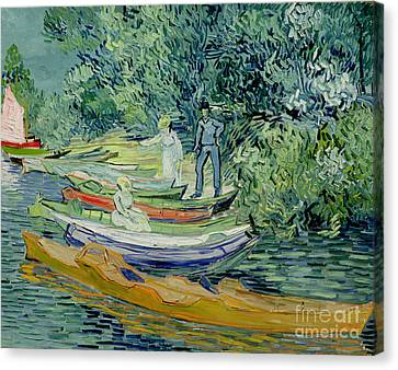 Bank Of The Oise At Auvers Canvas Print by Vincent Van Gogh