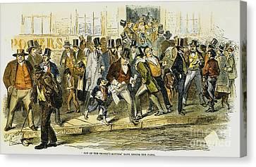 Bank Panic: 1857 Canvas Print by Granger