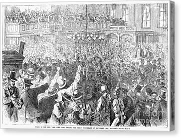 Bank Panic, 1869 Canvas Print by Granger