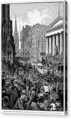 Bank Panic, 1884 Canvas Print by Granger