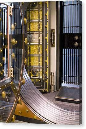 Bank Vault Doors Canvas Print by Adam Crowley