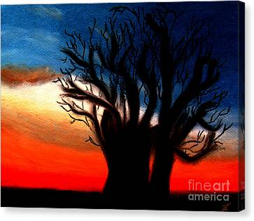 Canvas Print featuring the pastel Baobab Tree by Ayasha Loya