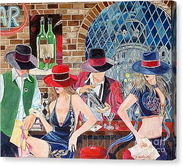Bar Canvas Print by Kostas Dendrinos