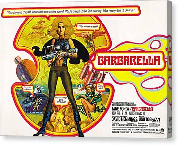 Jbp10ma14 Canvas Print - Barbarella, Jane Fonda, 1968 by Everett