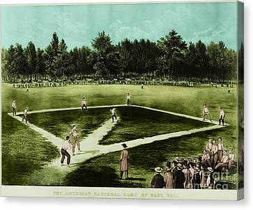 Baseball In 1846 Canvas Print by Omikron