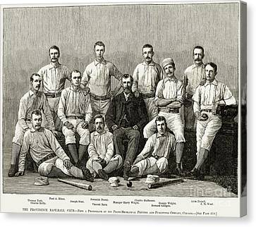 Baseball: Providence, 1882 Canvas Print by Granger
