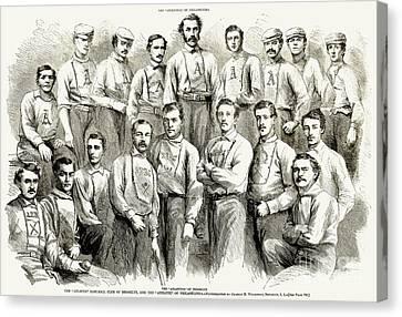 Baseball Teams, 1866 Canvas Print by Granger