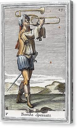 Bass Trombone, 1723 Canvas Print by Granger