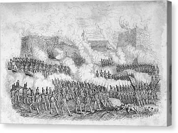 Battle Of Monterrey, 1846 Canvas Print by Granger