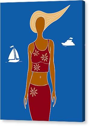 Beach Days Canvas Print by Frank Tschakert