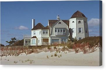 Beach House Canvas Print by Mark Greenberg