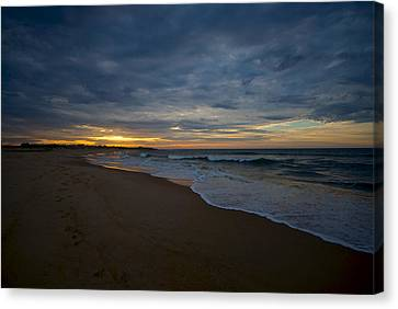 Beach Sunrise Canvas Print by Mike Horvath