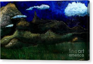 Canvas Print featuring the painting Beaute Du Montagnes by Ayasha Loya