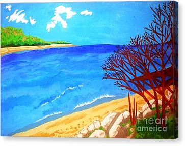 Beautiful Blue Lake Canvas Print