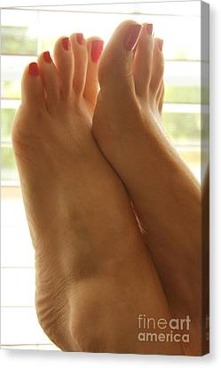 Beautiful Feet Canvas Print by Tos Photos