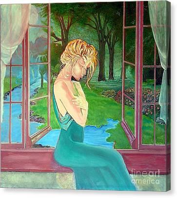 Beautiful Woman Canvas Print by Kostas Dendrinos