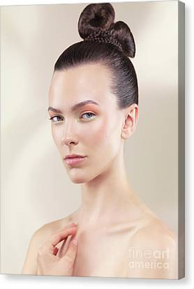 Beautiful Young Woman Portrait Canvas Print by Oleksiy Maksymenko