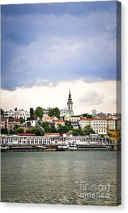 Belgrade Cityscape On Danube Canvas Print by Elena Elisseeva