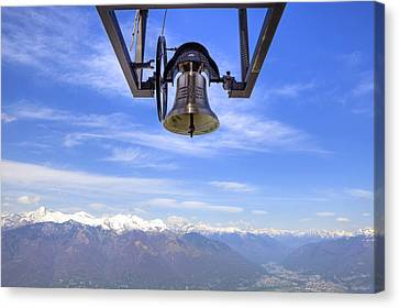 Snow-covered Landscape Canvas Print - Bell In Heaven by Joana Kruse