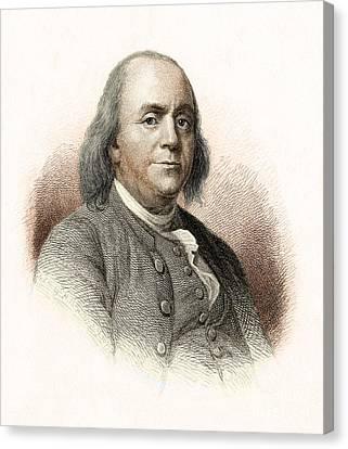 Benjamin Franklin Canvas Print by Nypl