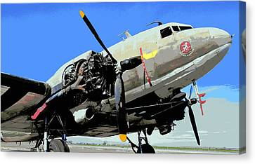 Betsy's Biscuit Bomber Canvas Print by Fraida Gutovich