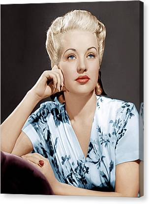 Betty Grable, Ca. 1940s Canvas Print