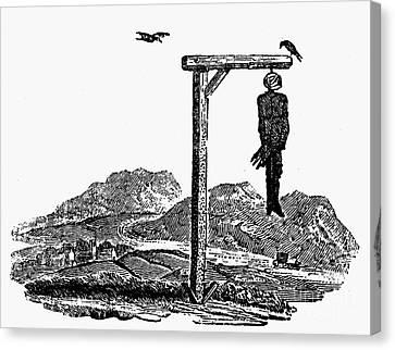 Bewick: Hanged Man Canvas Print by Granger