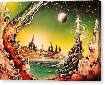 Beyond Earth Canvas Print by Tony Vegas